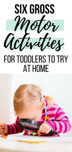 Six Gross Motor Activities for Toddlers to Try at Home Physical Activities For Toddlers, Activities For 1 Year Olds, Lesson Plans For Toddlers, Gross Motor Activities, Gross Motor Skills, Sensory Activities, Infant Activities, Toddler School, Toddler Fun