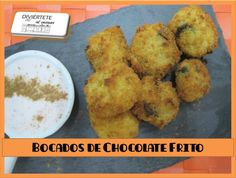 BOCADOS DE CHOCOLATE FRITO (VÍDEO AQUI: https://www.youtube.com/watch?v=9oNcvwlzWw8 /// Sígueme también en: Mi canal de youtube, Buscame en Bloger, Facebook, Instagram y Twitter como divertetealcocinar. Recuerda que cocinar puede ser divertido!!! Adios!!!