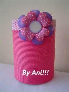 decoracion cumpleaños con latas recicladas - Bing images