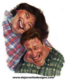 roseanne barr caricature | Roseanne Dan | CARICATURES - ACTORS - ACTRESSES | Pinterest | Roseanne ...