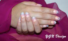 Natuurlijke nagels met stempel nailart