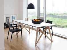 Butterfly Ash Modern Dining Table - modern - dining tables - london - by Wharfside Glass Dining Table Set, Formal Dining Tables, Luxury Dining Tables, Dining Table Design, Dining Table In Kitchen, Kitchen Decor, Round Dining, Open Kitchen, Modern Kitchen Tables