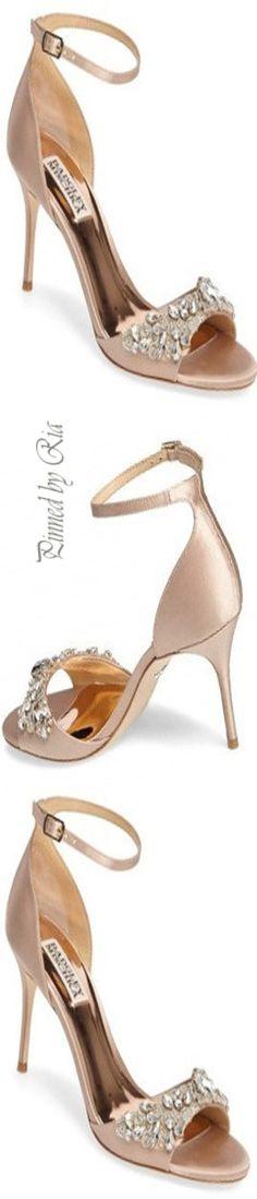 f34b2a33013 Badgley Mischka Bejeweled Heels Stiletto Pumps