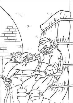 Desenhos para colorir As Tartarugas Ninja 10