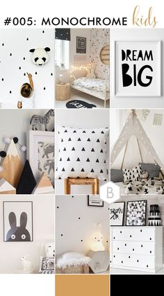 Monochrome and geometric kids decor - nursery, bedroom, play room inspirations on B.Loved blog - created by Catharine of Catharine Nobe Photography