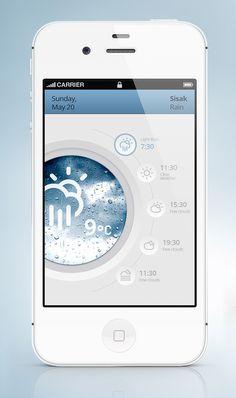 원형의 메인 배치지만 심심하지않은 배치와 여러가지의 버튼으로 사용성과 편리성 또한 볼 수 있는 Ui이다.