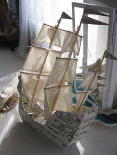 Barco hecho a mano de VintageDiana