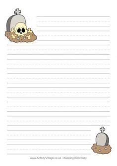 These Halloween stationery pages are fun for kids to use for thank you letters as well as writing practice. You'll find some really fun new designs below in 3 printable versions - blank, with handwriting lines, and ruled. Cute Writing, Writing Paper, Letter Writing, Handwriting Lines, Free Printable Stationery, Notebook Art, Office Items, Writing Practice, Business For Kids