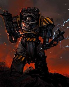Iron Warrior by Ronan Toulhoat Warhammer 40k Art, Warhammer Fantasy, Martial, The Horus Heresy, Imperial Knight, Geek Art, Space Marine, Dieselpunk, Illustrations