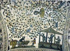 Arte en la Alta Edad Media. El primer arte cristiano. Mosaicos de Santa Constanza. Siglo IV.