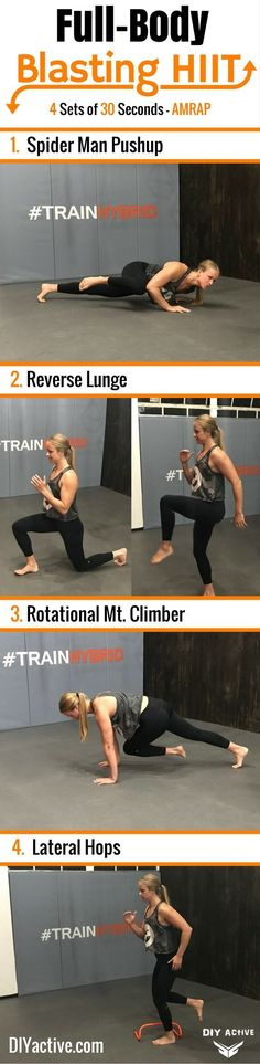 HIIT workouts are boss! Give this one a try for yourself. via @DIYActiveHQ #homefitness #exercise #workout
