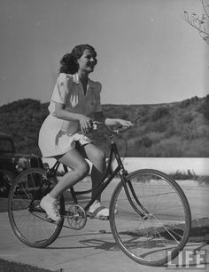 Rita on a bike!
