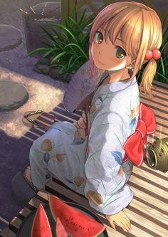 fille en #Kimono #Dessin de よろぱ #Manga                                                                                                                                                      Plus