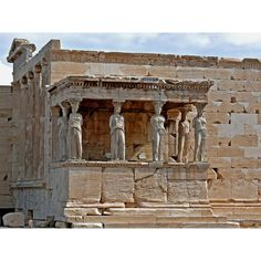 Erechtheum - Acropolis of Athens pictures - Athens - Greece - Europe -... ❤ liked on Polyvore featuring backgrounds, greece, photos and building