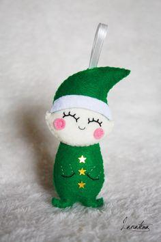 Christmas felt decoration elf ornaments christmas tree di Lanatema