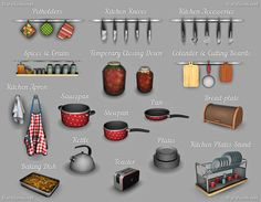 Lana CC Finds - Kitchen Decor Set [The Sims 4] by Dara Sims The...