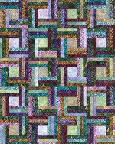 Something to unify: texture, palette, motif... Robert Kaufman Artisan Batik Lafayette Off the Rail Quilt Kit