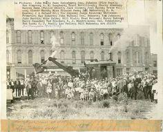 Michael Quinn at Alex Johnson Hotel groundbreaking, Rapid City, SD. 1927