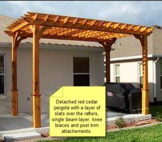 How to Build a Pergola - Introduction - Pergola DIY #shedplans Diy Pergola, Wood Pergola Kits, Pergola Cost, Cedar Pergola, Building A Pergola, Pergola Curtains, Small Pergola, Pergola Attached To House, Wooden Pergola