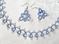 Feminine and elegant jewelry for the beautiful bride. Handmade tatted jewelry My laces are elegant and durable. Handmade lace with the best quality