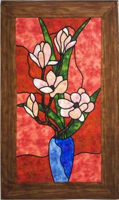 Magnolia Quilt Pattern PES-101 (intermediate, stained glass, wall hanging)