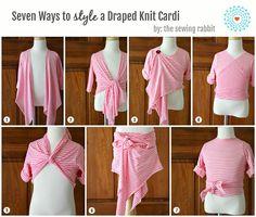 Draped Knit Kids Cardi DIY – Styled 7 Ways
