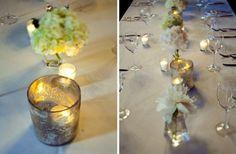 mercury glass tablescapes