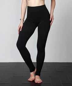 Look what I found on #zulily! Black Seamless Leggings - Plus by Reborn Collection #zulilyfinds
