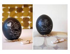 chalkboard eggs.