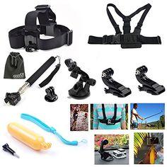 EEEKit 8-in-1 Accessories Kit for Gopro HD Hero 3+/3/2/1 Camera, Head Belt Strap Mount+ Chest Belt Strap Mount+ Extendable Handle Monopod + Car Suction Cup Mount Holder + Floating Handle Grip + 2 PCS Tripod Mount Adapter+2 PCS Gopro Surface J-Hook+EEEKit Pouch EEEKit http://www.amazon.com/dp/B00LAVA2OW/ref=cm_sw_r_pi_dp_Kdjbub0NK93KA Affiliate Link
