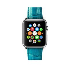 Turquoise Apple Watch Leather Strap Band 38 mm 42 mm