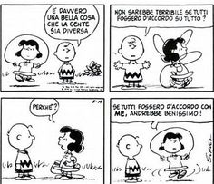Se tutti fossero d'accordo con me, andrebbe benissimo! Lucy Van Pelt, Snoopy Comics, Charlie Brown And Snoopy, Me Too Meme, Peanuts Snoopy, Calvin And Hobbes, Graphic Design Illustration, Be Yourself Quotes, Comic Strips
