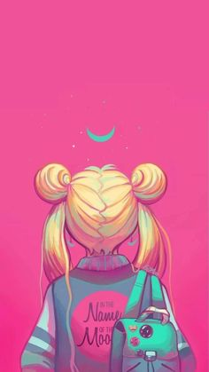 Sailor Moon painting, neon pink, in the nakme of the moon - Hintergrund 2019 Sailor Moon S, Sailor Moon Crystal, Sailor Venus, Sailor Mars, Sailor Moon Aesthetic, Aesthetic Anime, Cute Cartoon Wallpapers, Animes Wallpapers, Sailor Moon Wallpaper