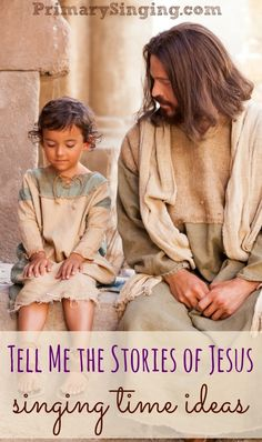 9 Singing Time Ideas for Tell Me the Stories of Jesus - Teach this fun LDS Primary Song for March's Lds Songs, Lds Primary Songs, Primary Program, Primary Singing Time, Primary Lessons, Primary Music, Jesus Songs For Kids, Jesus Teachings, Nursery Songs
