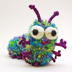 Cuterpillar Knitting Pattern by cheezombie DIY #Caterpillar #Toy #Knitting