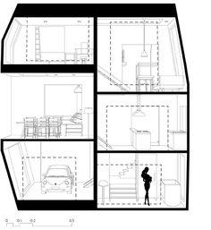 Spiral Dollhouse - Architecture BRIO, Mumbai / India - Section 1 #ArchitectureDrawing