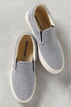 Superga Striped Slip-On Sneakers - anthropologie.com