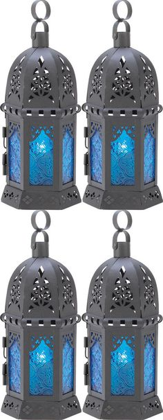 Mini Gothic Candle Lanterns-Set of Four-Medieval Renaissance Decor