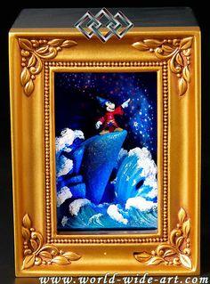 Fantasia - Sorcerer Mickey - Gallery of Light - Robert Olszewski - World-Wide-Art.com