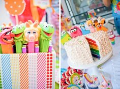 SOOO cute!! Muppet themed birthday party via Kara's Party Ideas- www.KarasPartyIdeas.com!