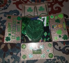 St. Patrick's Day care package. #stpatrick #carepackage #military #airforce #green #gold