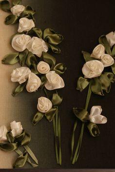 Silk ribbon embriodery