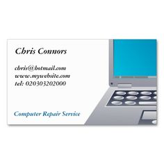 Computer Repair Business Cards Make Your Own Business Card With - Computer repair business card template