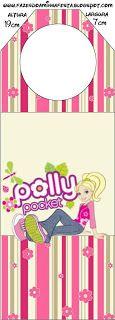 Polly Pocket - Kit Completo com molduras para convites, rótulos para guloseimas, lembrancinhas e imagens! - Fazendo a Nossa Festa