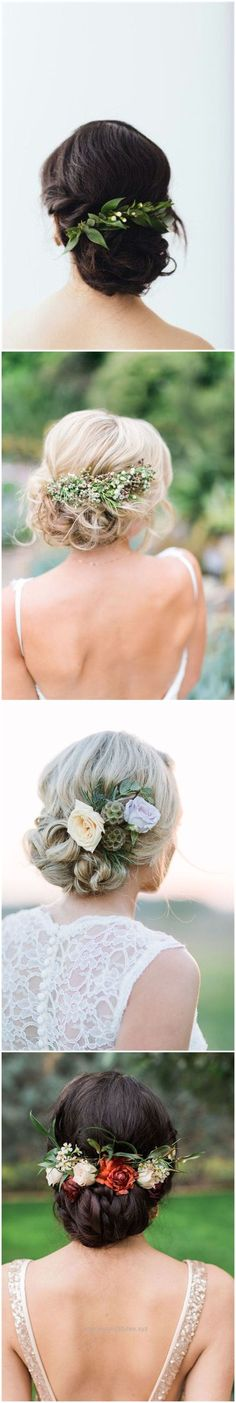 Check out this Wedding Hairstyles » 18 Wedding Updo Hairstyles with Greenery Decorations >> ❤️ See more: www.weddinginclud… The post Wedding Hairstyles » 18 Wedding Updo Hairstyles with Greenery De ..