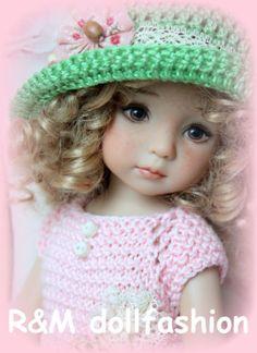 R-M-DOLLFASHION-SPRING-LINE-OOAK-handknit-set-for-Effner-Little-Darling-13-doll