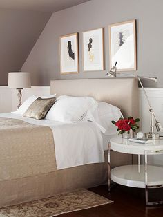 This modern bedroom is a soothing, restful retreat. More modern decor: http://www.bhg.com/decorating/decorating-style/modern/modern-decor/?socsrc=bhgpin071113modernbedroom=9