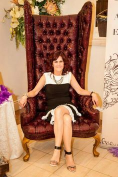 President Donna Smith in the beautiful Whittington Chair