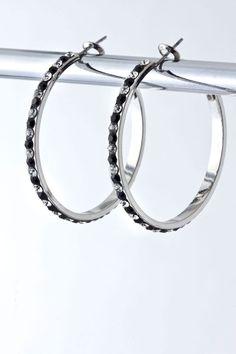 https://www.krisandkate.com/dealoftheday.html  #Hoops in black and clear crystals  $13