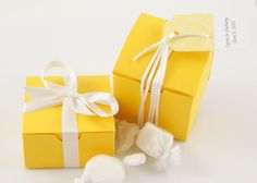 Lemon Wedding Favor Boxes  Yellow Favor Boxes by WeddingAmbience, $15.00